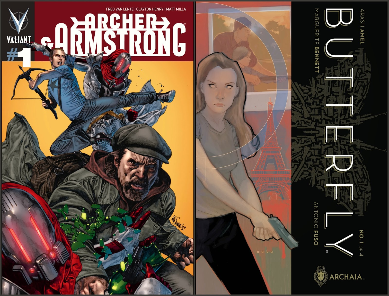 Archer & Armstrong #1; Butterfly #1