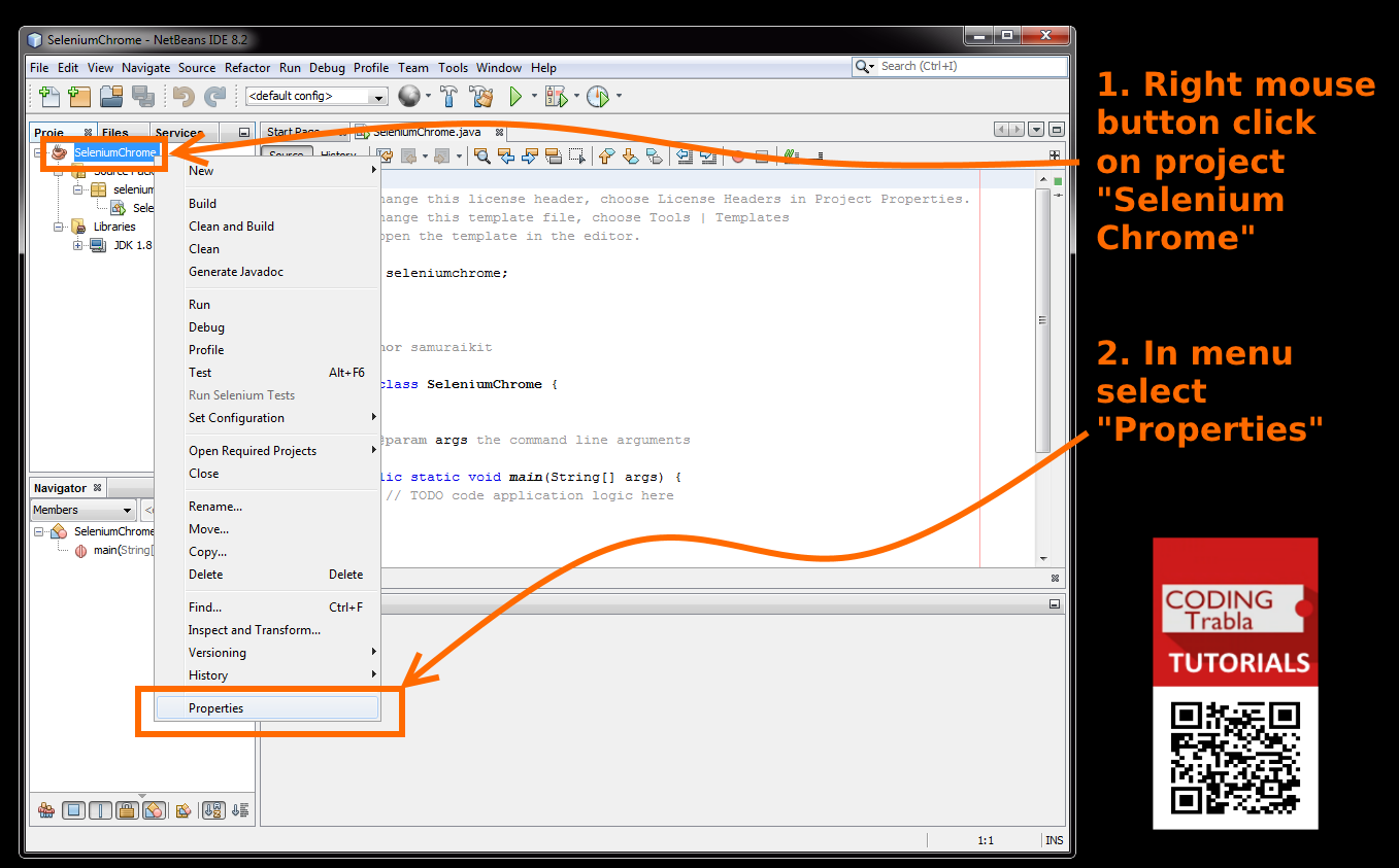 codingtrabla: NetBeans IDE with Selenium and Chrome Driver