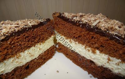 Ciasto czekoladowe z masą miętową