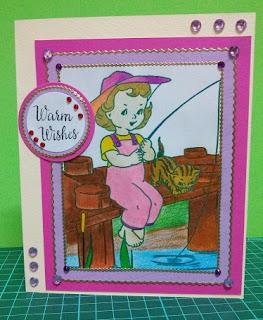 Fishing Theme Handmade Card