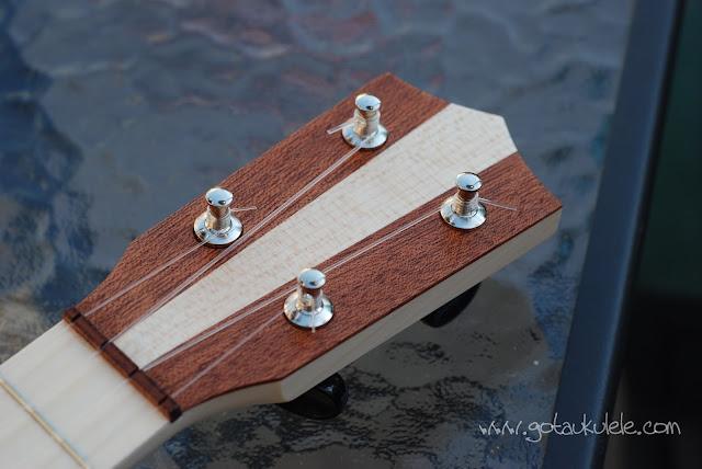 Bruno 6 soprano ukulele headstock