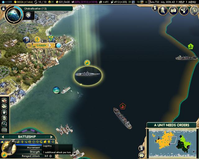 Civilization 5: Brave New World - Super Battleship