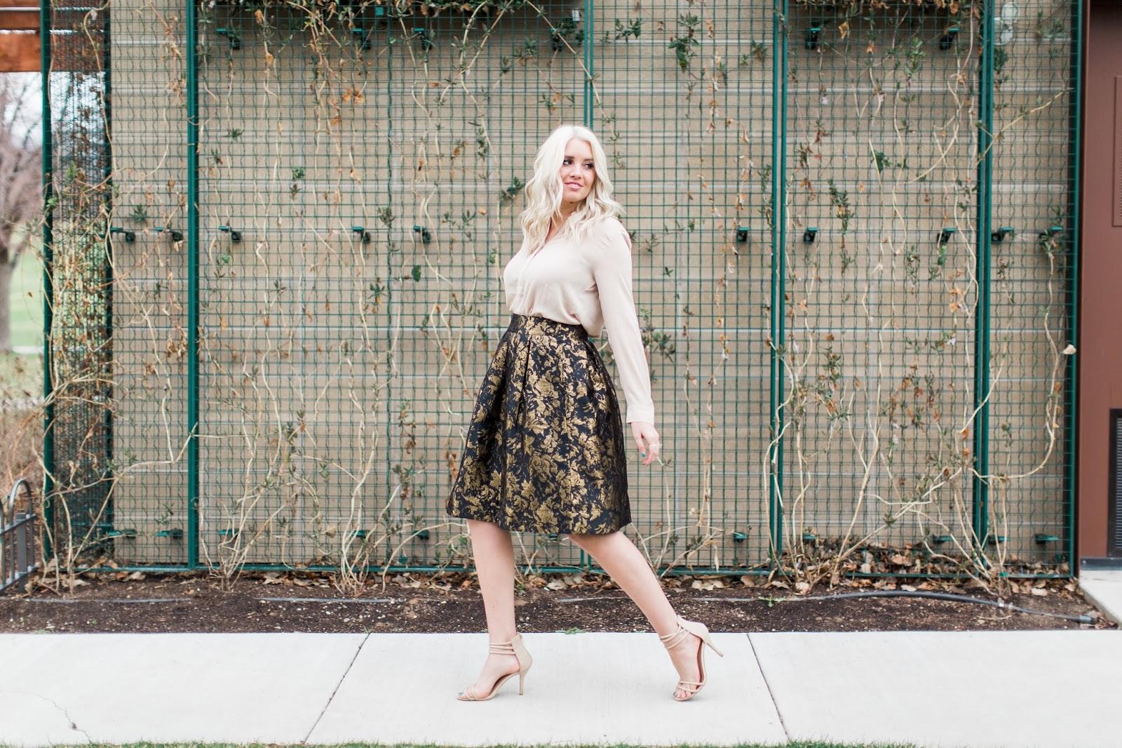 Spring Outfit, Utah Fashion Blogger, Jacquard