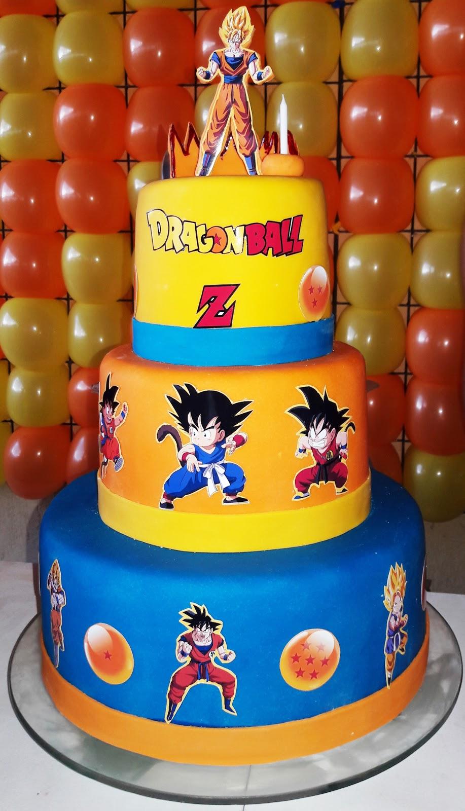Gleise braga bolos art sticos bolo dragonball z for Cuartos decorados de dragon ball z