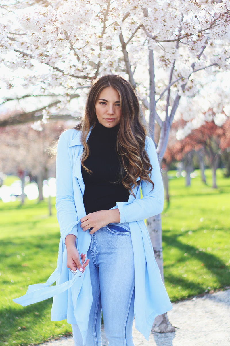 light blue jacket, utah fashion blogger, spring style