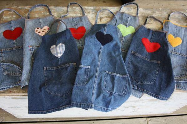 reciclado de jeans viejos