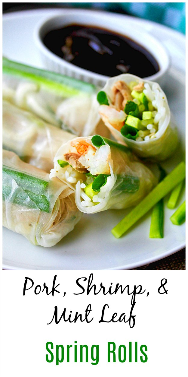 Vietnamese-Style Pork and Shrimp Spring Rolls #springrolls #summerrolls