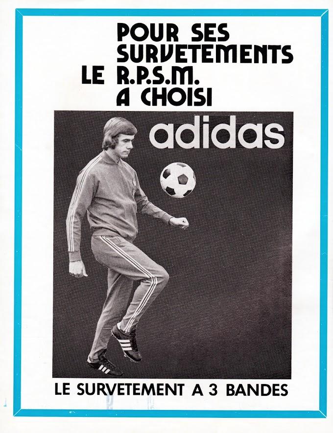 PUB. Adidas. Racing Pierrots Strasbourg-Meinau.