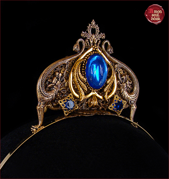 tiare medievale mariage dragon daenerys targaryen couronne diademe mythologie renaissance bronze bleu diadem dragon tiare targaryen dragon crown headdress wedding medieval renaissance tiara dragon bronze blue dragon