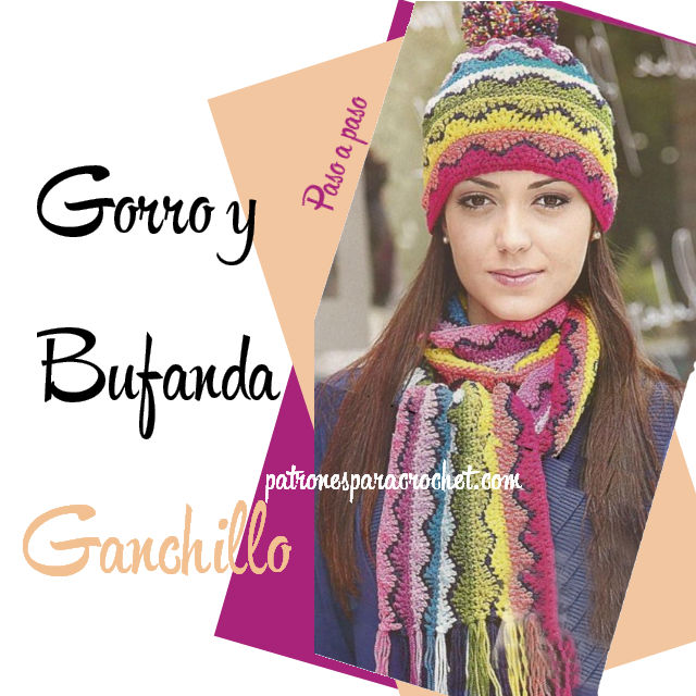 Gorro Y Bufanda Arco Iris Ganchillo / Paso A Paso