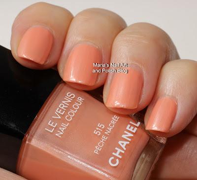Marias Nail Art And Polish Blog Chanel Peche Nacree 515 Swatches