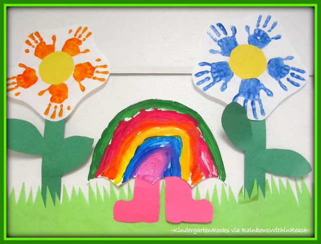 photo of: Kindergarten Bulletin Board for Spring
