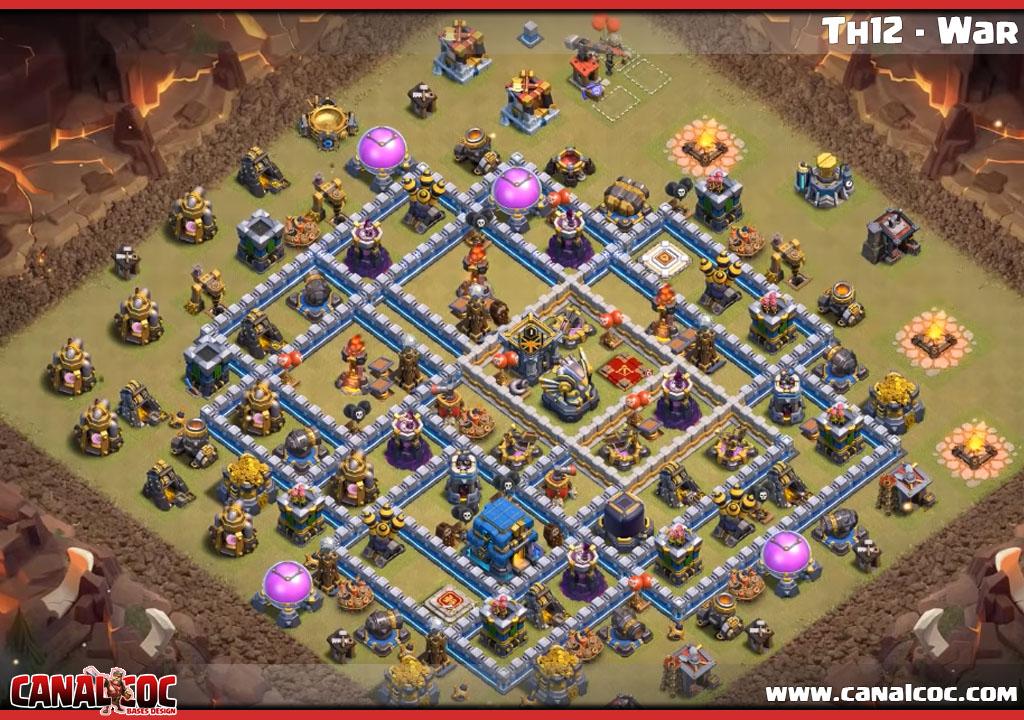 Coc Th12 Best War Base Layout 2