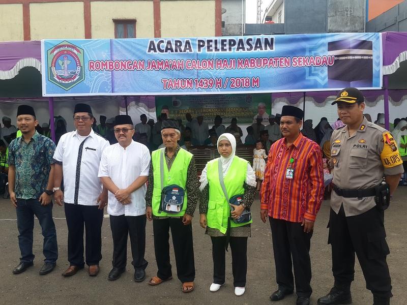 Pelepasan 58 Jamaah Calon Haji Asal Kabupaten Sekadau