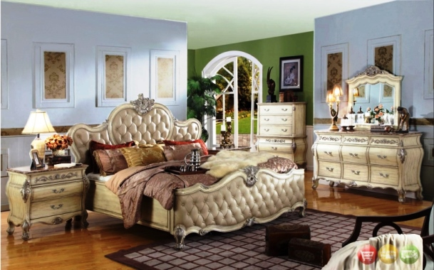 Victorian Style Bedroom Furniture White Deluxe Royal Crown