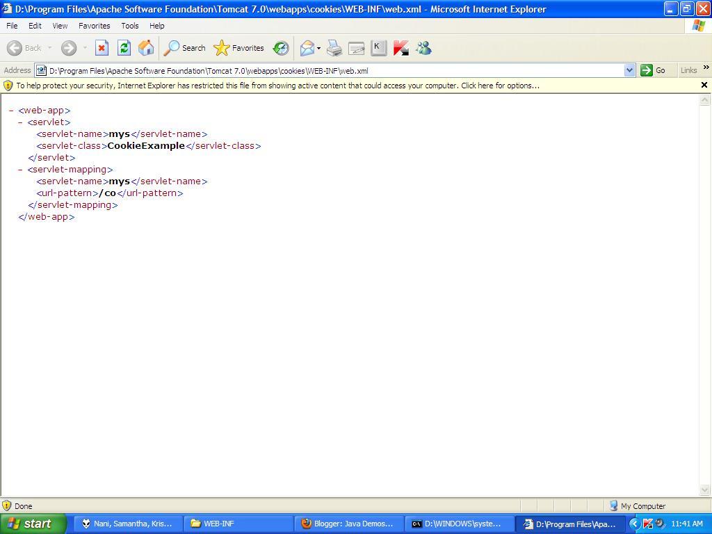 Pre Check web xml for Errors in Servlets