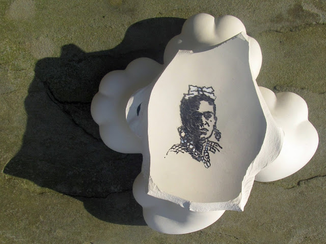 Frida Kahlo in a Cross of Clouds (Version I) by Campello