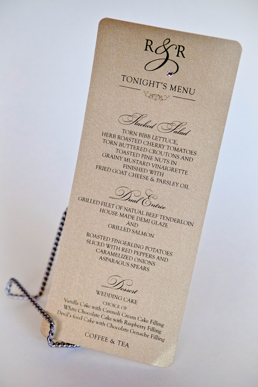 kindly rsvp designs' blog menu card • weddings