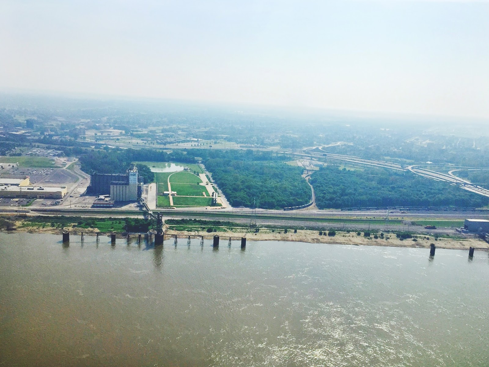 View of East St. Louis and the Mississippi