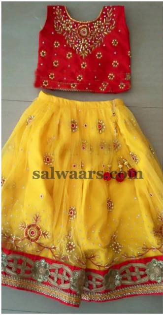 Yellow and Red Lehenga
