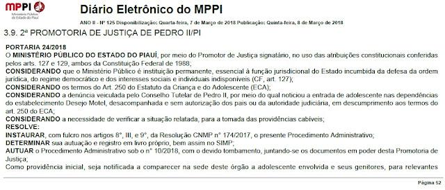 prefeitura interdita motel sem alvará em Pedro II