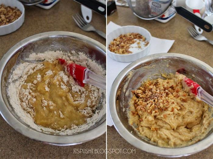 Spusht   Eggless Banana and Walnut Muffin Recipe