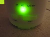 60 min: Aiho 50ml USB Auto Aroma Diffuser Mini AD-P3 Aromatherapie Ätherische Öl Ultraschall Luftbefeuchter Humidifier