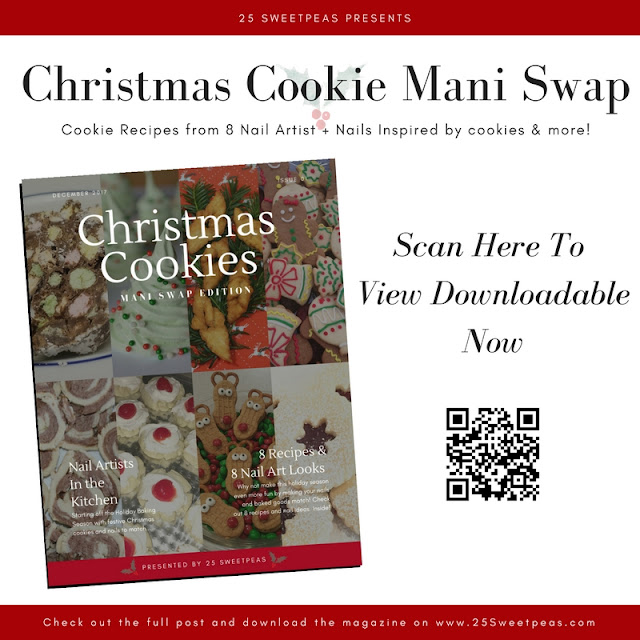 Christmas Cookie Mani Swap 25 Sweetpeas