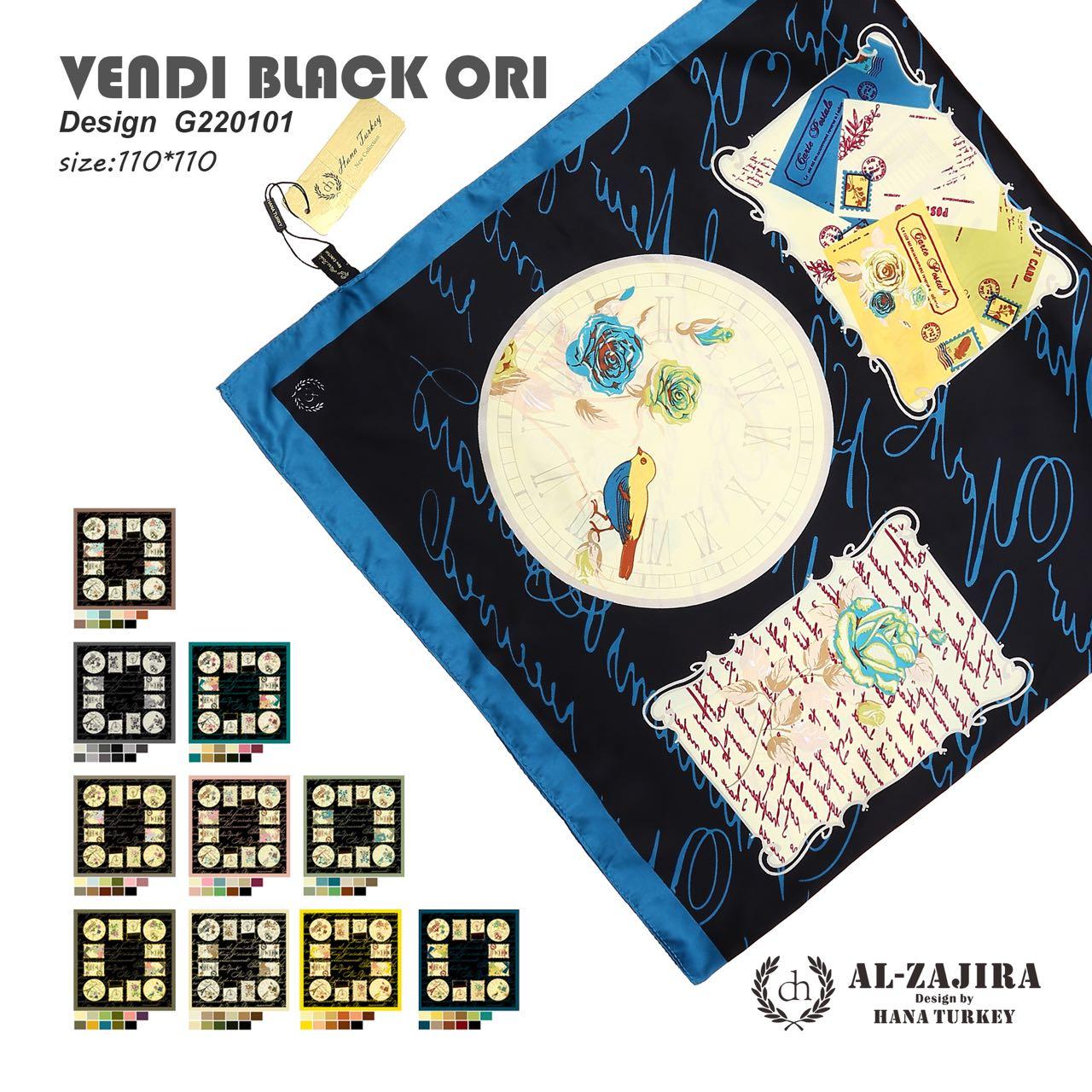 Kerudung Vendi Black Ori By Hana Turkey Scarf