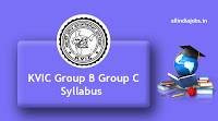 KVIC Group B Group C Syllabus