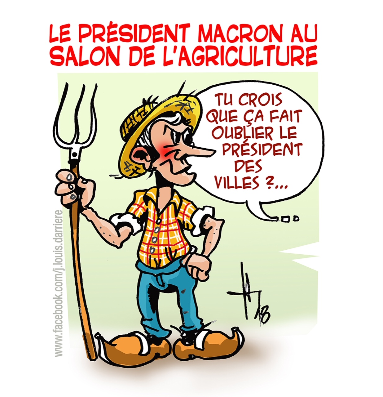 Le reboussier 02 18 for Macron salon agriculture oeuf