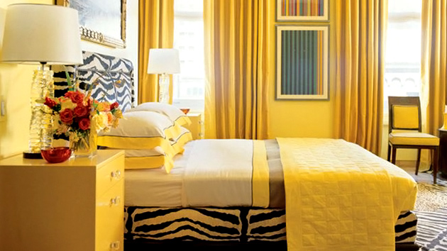 The best color for your house according to your zodiac for Bright yellow bedroom ideas