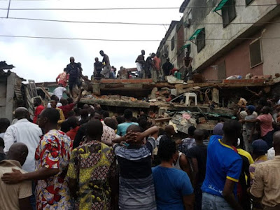 telecom mast brought down lagos building