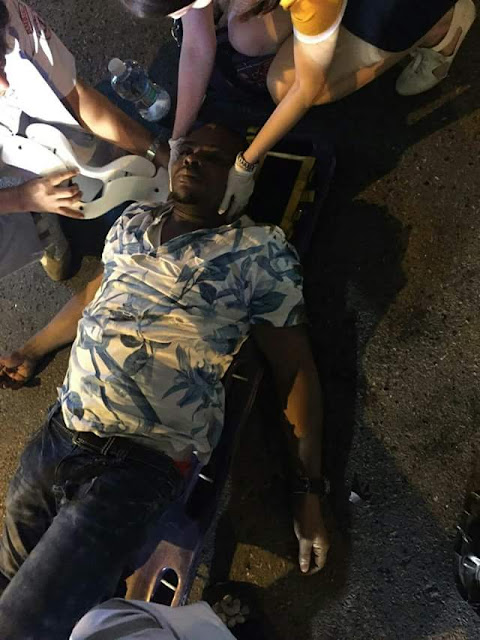 Photos: Nigerian man hit & killed by car while running away from Thai Immigration police