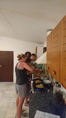 volunteers cooking