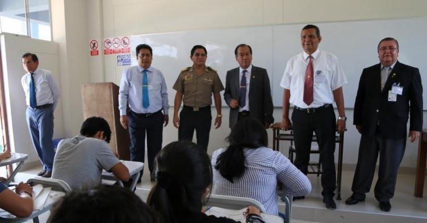 UNP: Con éxito se desarrolló Examen de Admisión 2019-1 y contó con la presencia del Jefe de Región Policial Piura - www.unp.edu.pe