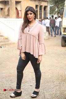 Telugu Actress Aditi Singh Stills in Leather Pants at Nenu Kidnap Iyanu Movie Press Meet  0231.JPG
