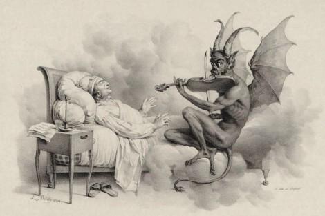 """Dibujo del """"Sueño de Tartini"""""""