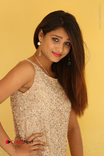 Tollywood Upcoming Actress Arthi Stills in Black Skirt at Plus 1 Movie Trailer Launch  0020.JPG