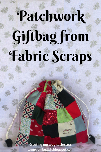Patchwork Gift Bag from Fabric Scraps