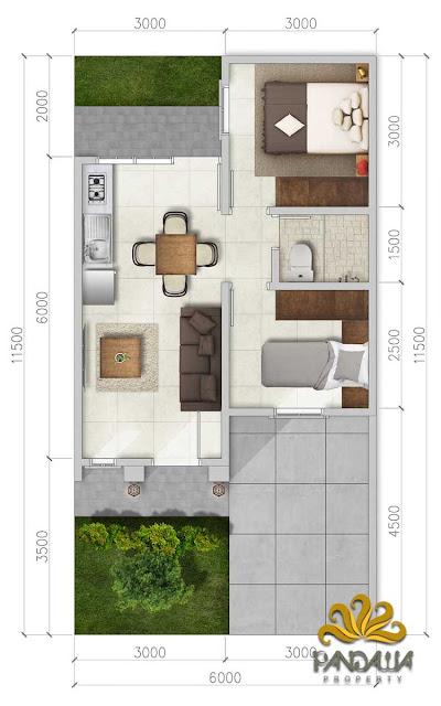 Denah Rumah 1 Lantai Grand Kartika Cibubur