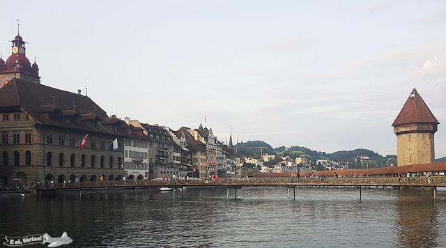 Restaurante Pfistern, Lucerna, Rio Reuss, Kappelbrucke