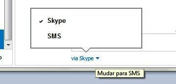 Mande mensagem pelo Skype