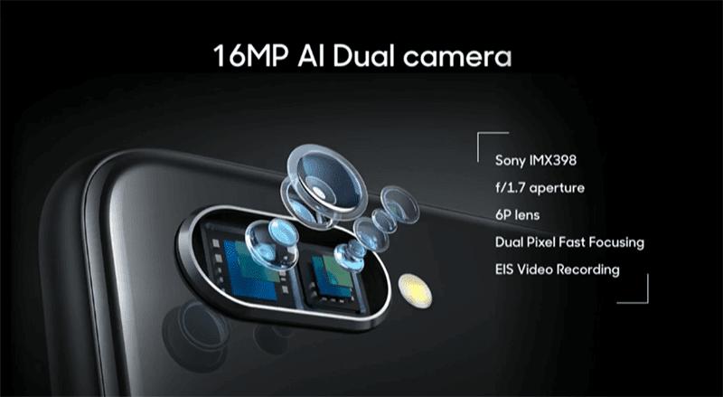 Dual 16MP AI cameras