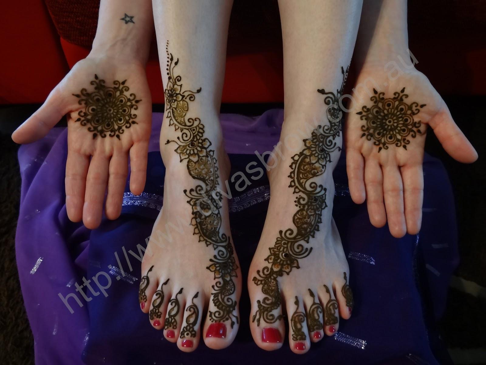 How To Get Dark Henna Art Colour Divas Brow
