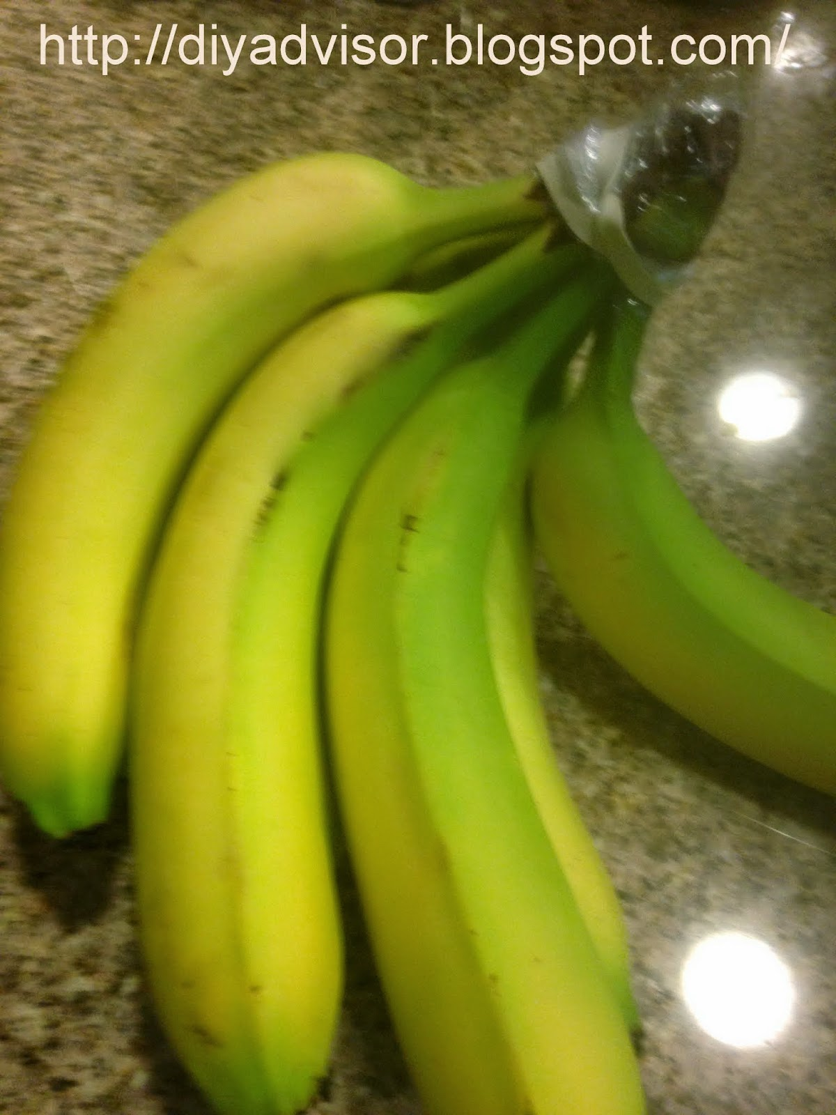Ripe bananas in the kitchen