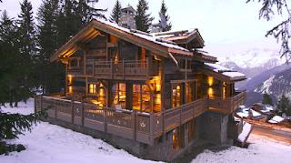Деревянные окна в стиле chalet