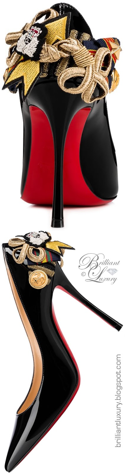 Brilliant Luxury ♦ Christian Louboutin Galonna Pumps