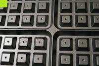 innen Mitte: Waffeleisen Belgisch für 4 belgische Waffeln,XXL Waffelautomat,brüssler Doppel,Thermostat, stufenlose Temperatureinstellung, Backampel, Cool-Touch Griff