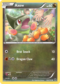 Axew BREAKthrough Pokemon Card